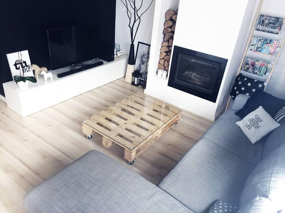 Ruang Keluarga Gaya Skandinavia Oleh White Interior Design Skandinavia