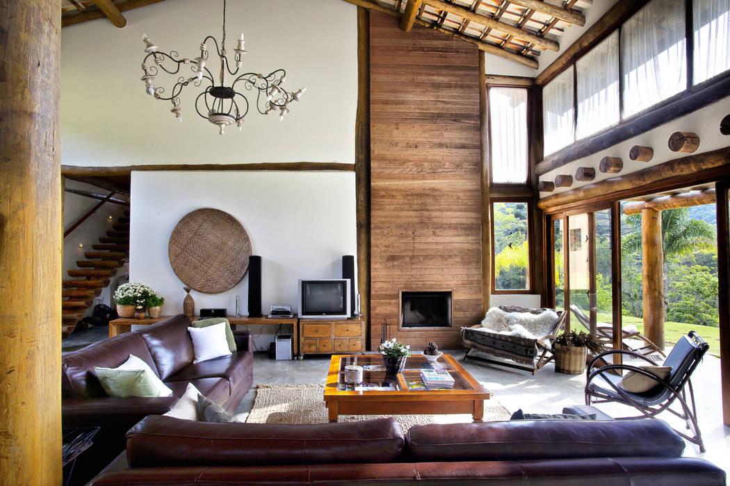 São Lourenço da Serra/SP Casas rústicas por Bianka Mugnatto Design de Interiores Rústico