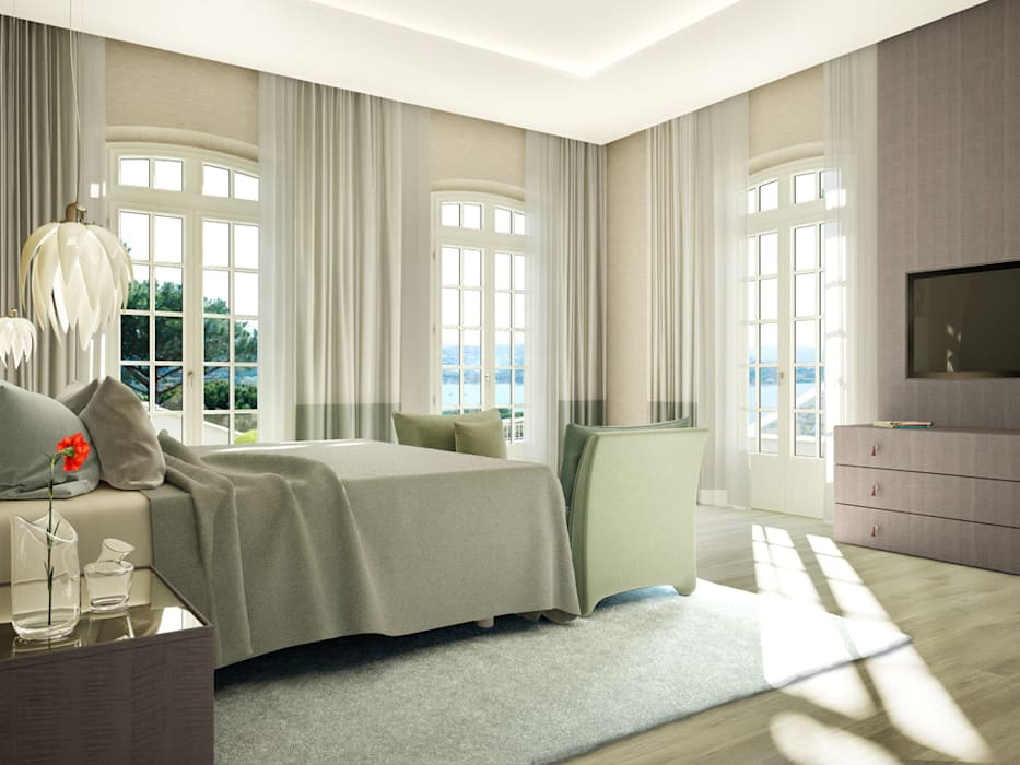Classic style bedroom by Berga&Gonzalez - arquitectura y render Classic