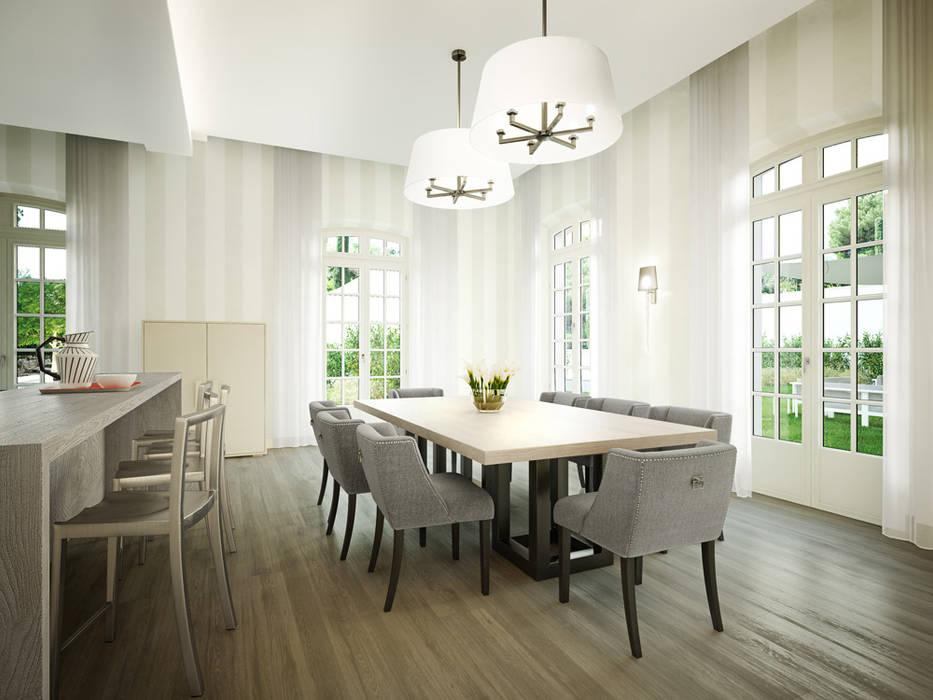Render 3D de una casa de lujo en Saint Tropez, Francia Cocinas clásicas de Berga&Gonzalez - arquitectura y render Clásico