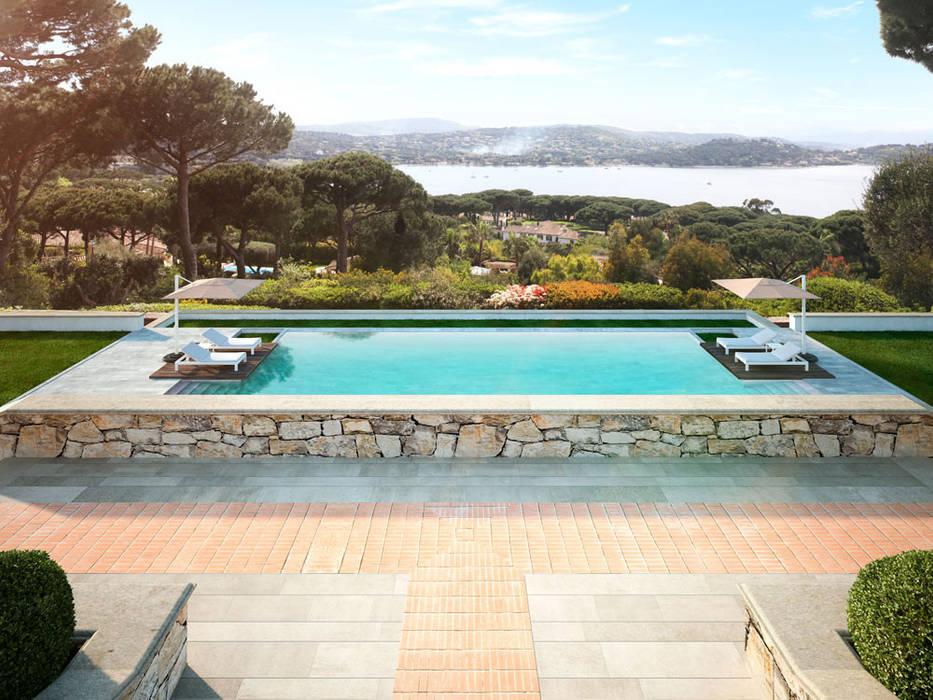 Render 3D de una casa de lujo en Saint Tropez, Francia Casas de estilo clásico de Berga&Gonzalez - arquitectura y render Clásico