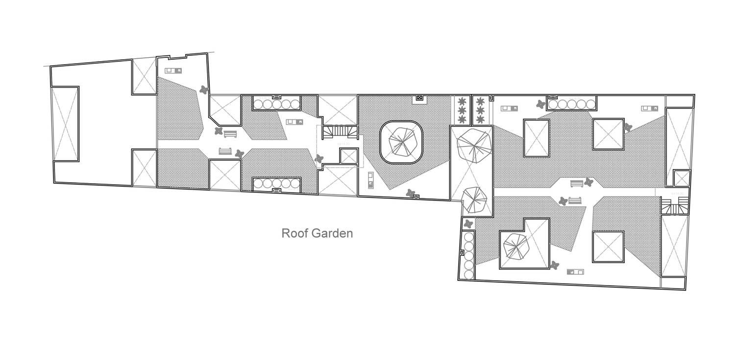 Planta Roof Garden Casas modernas de RECON Arquitectura Moderno
