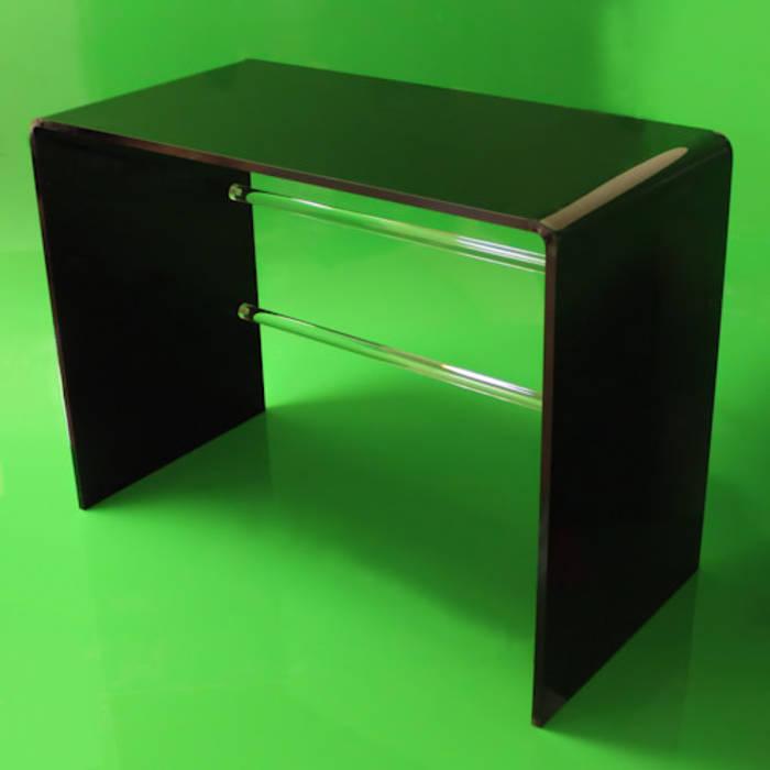 new style fd134 d2c1f Tunstall black acrylic dressing table / desk: study/office ...
