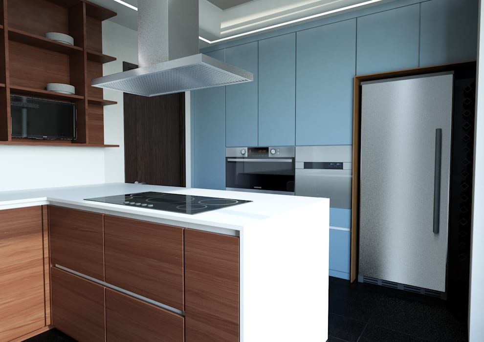 Milano - Cimarosa Case moderne di Architetto ANTONIO ZARDONI Moderno