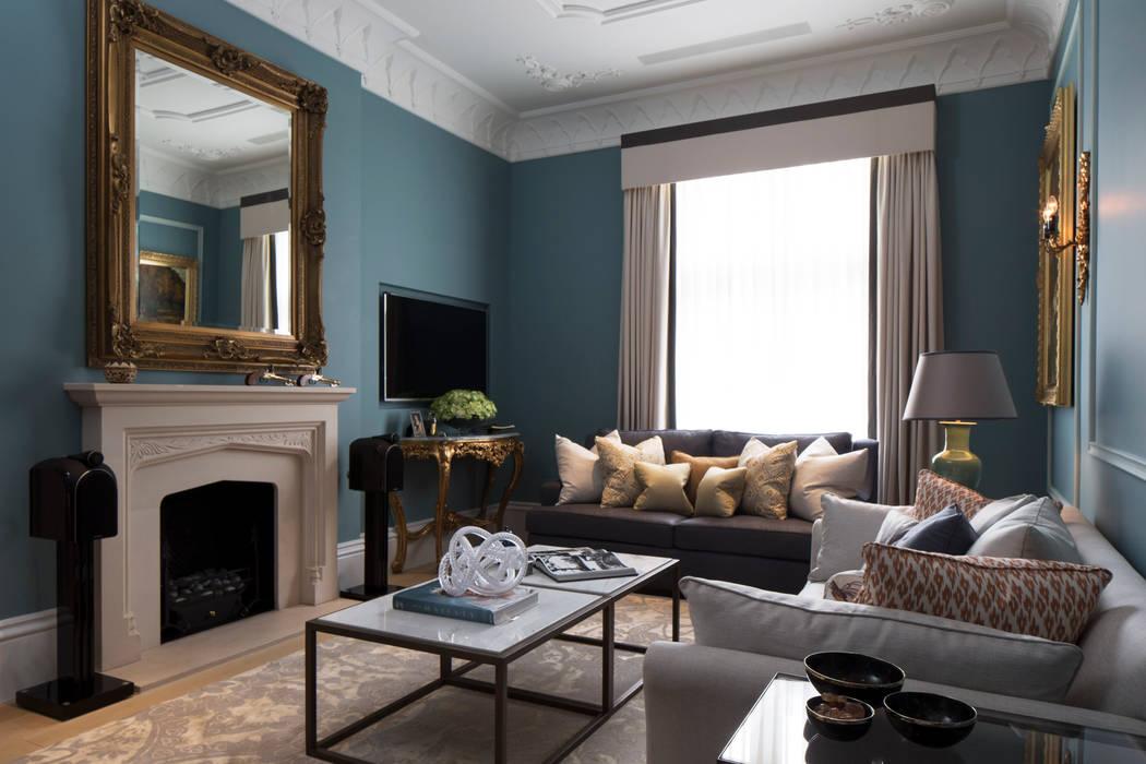 Drawing Room:  Living room by Roselind Wilson Design