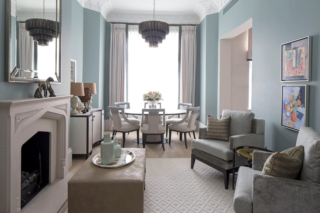 Living Room and Dining Area by Roselind Wilson Design Classic