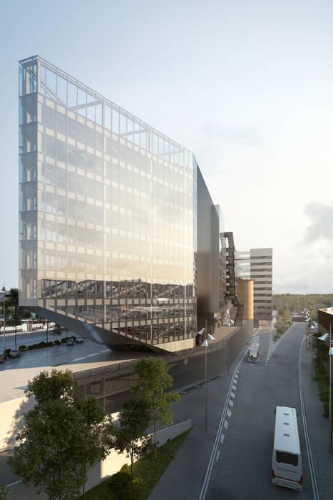 Nouveau siège social de BNL-BNP Paribas à Rome Espaces de bureaux modernes par 5+1AA alfonso femia gianluca peluffo Moderne