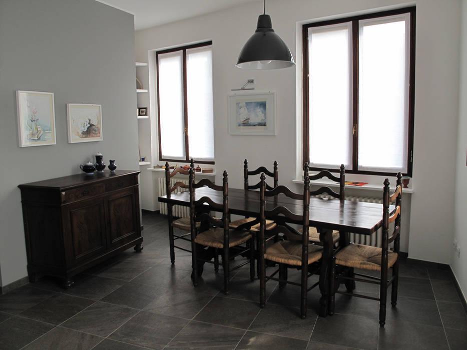 Villa Meina Sala da pranzo moderna di Matteo Verdoia Architetto Moderno