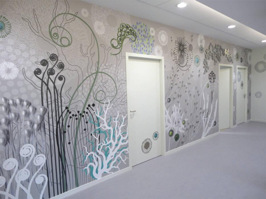 Oeuvre murale design de Sophie Briand Murs & Sols originaux par Sophie Briand, designer Éclectique