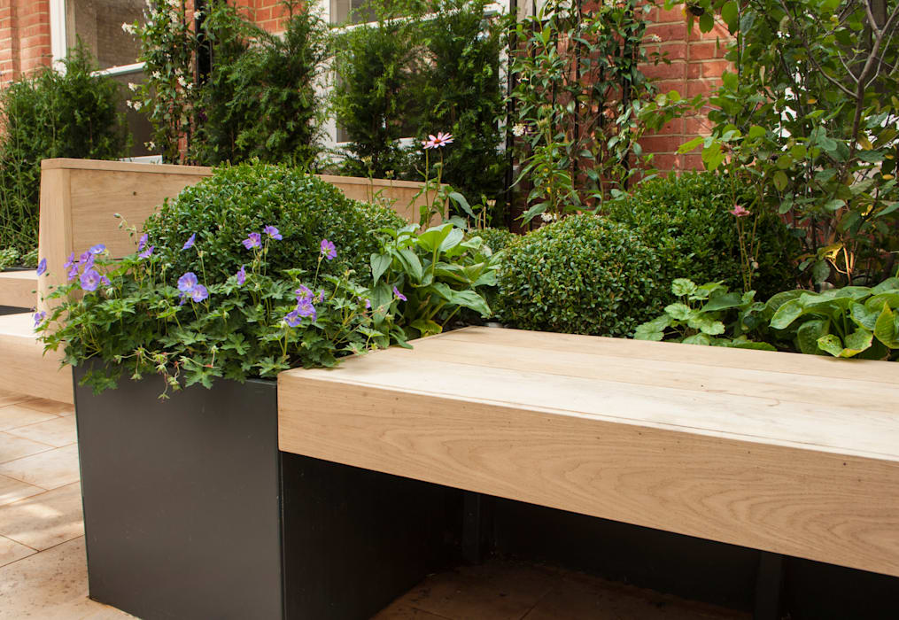 Knightsbridge Roof Terrace - Aralia Garden Design Modern commercial spaces by Aralia Modern Copper/Bronze/Brass