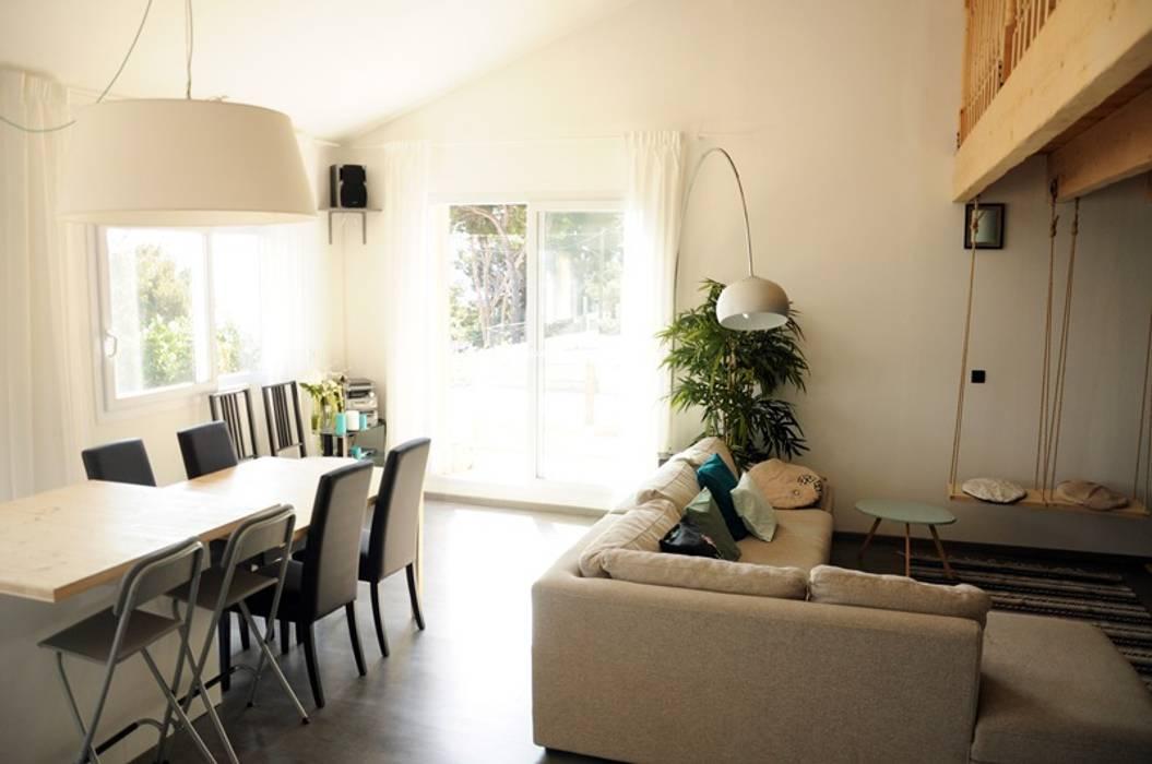 Le 16 - Espace de vie 1er étage Maisons modernes par Aurélie Ronfaut dite Thi-Lùu Moderne