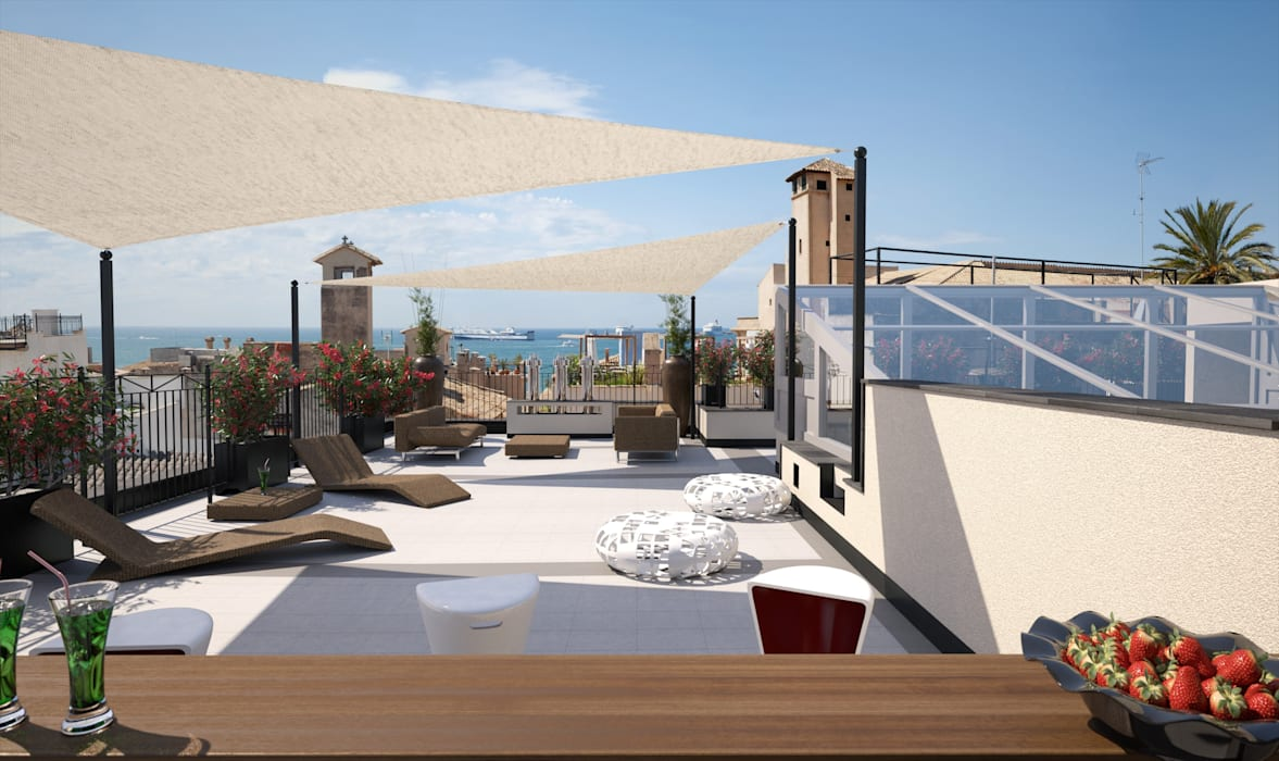 Modern terrace by Realistic-design Modern