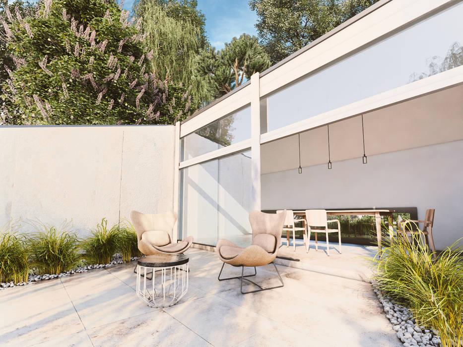 WHITE ROOM DESIGN – Exterior Scene:  tarz Kış Bahçesi