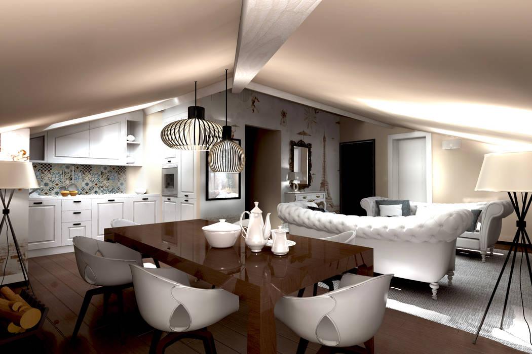 Architettura E Design Interni.Progettazione D Interni Soggiorno In Stile Di Aaa Architettura E