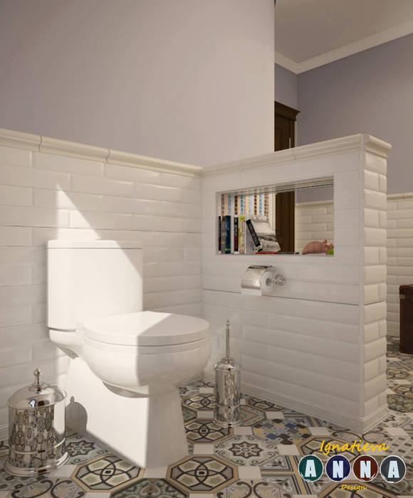 Bathroom by Дизайн-студия Анны Игнатьевой, Mediterranean