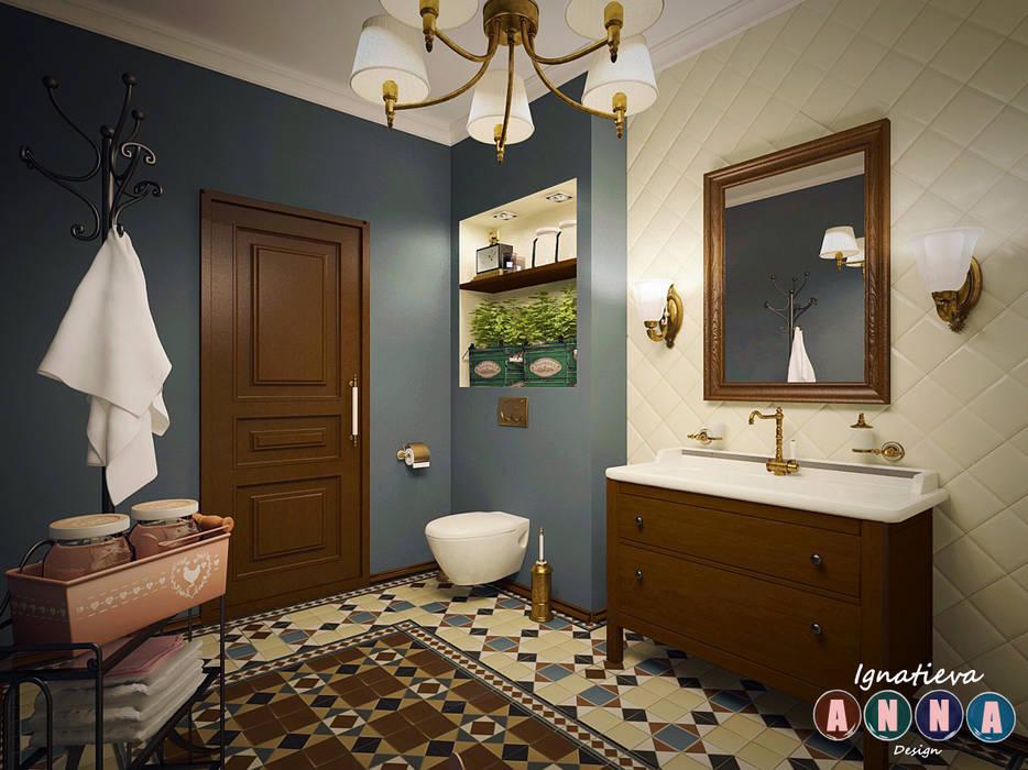Phòng tắm theo Дизайн-студия Анны Игнатьевой,
