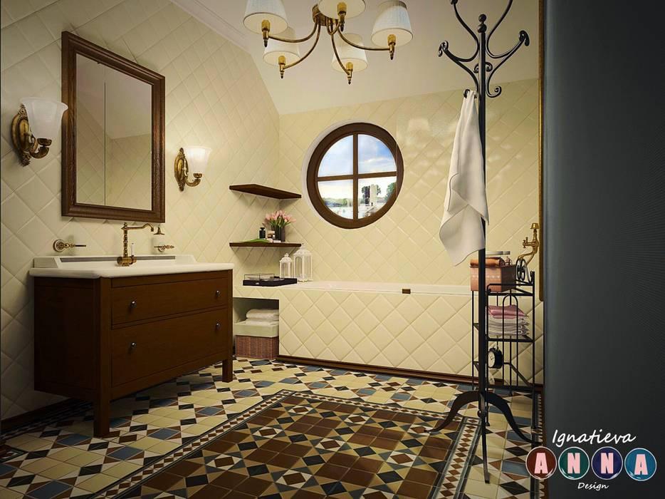 Bathroom by Дизайн-студия Анны Игнатьевой, Colonial