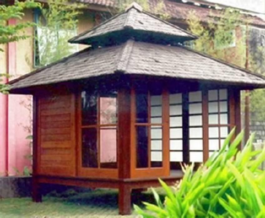 casa de campo japonesa : Jardines de estilo tropical de Ale debali study
