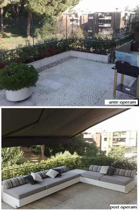 ante e post operam area relax: Terrazza in stile  di Fabio Valente Studio di architettura e urbanistica