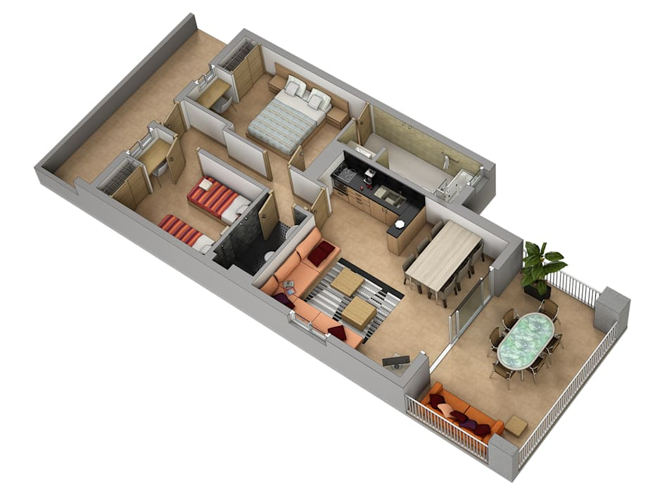 Realistic-design Houses