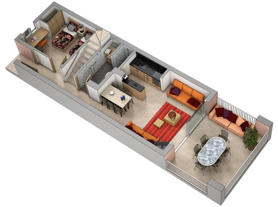 Planos de corte 3D Casas de Realistic-design
