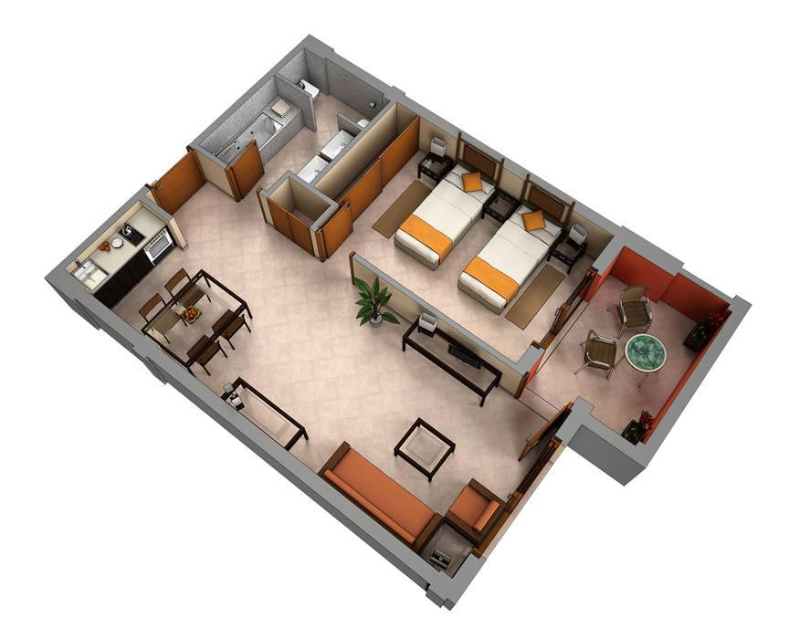 Planos de corte 3d casas de estilo de realistic design - Planos en 3d de casas ...