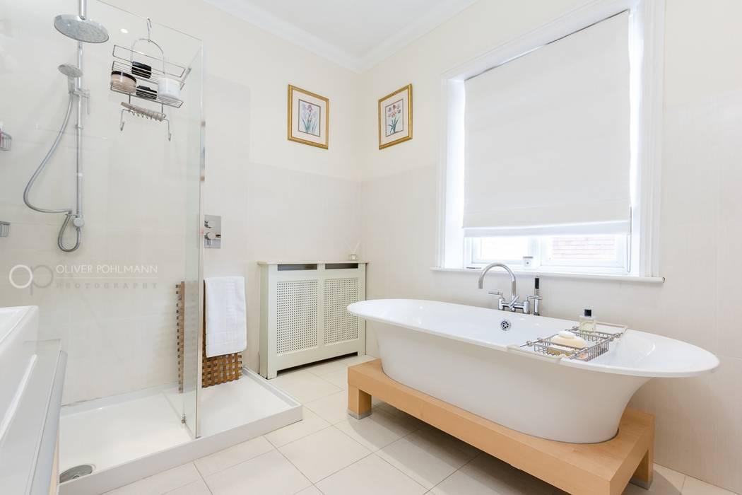 Elegant Luxurious Bathroom Kamar mandi: Ide desain interior, inspirasi & gambar Oleh homify