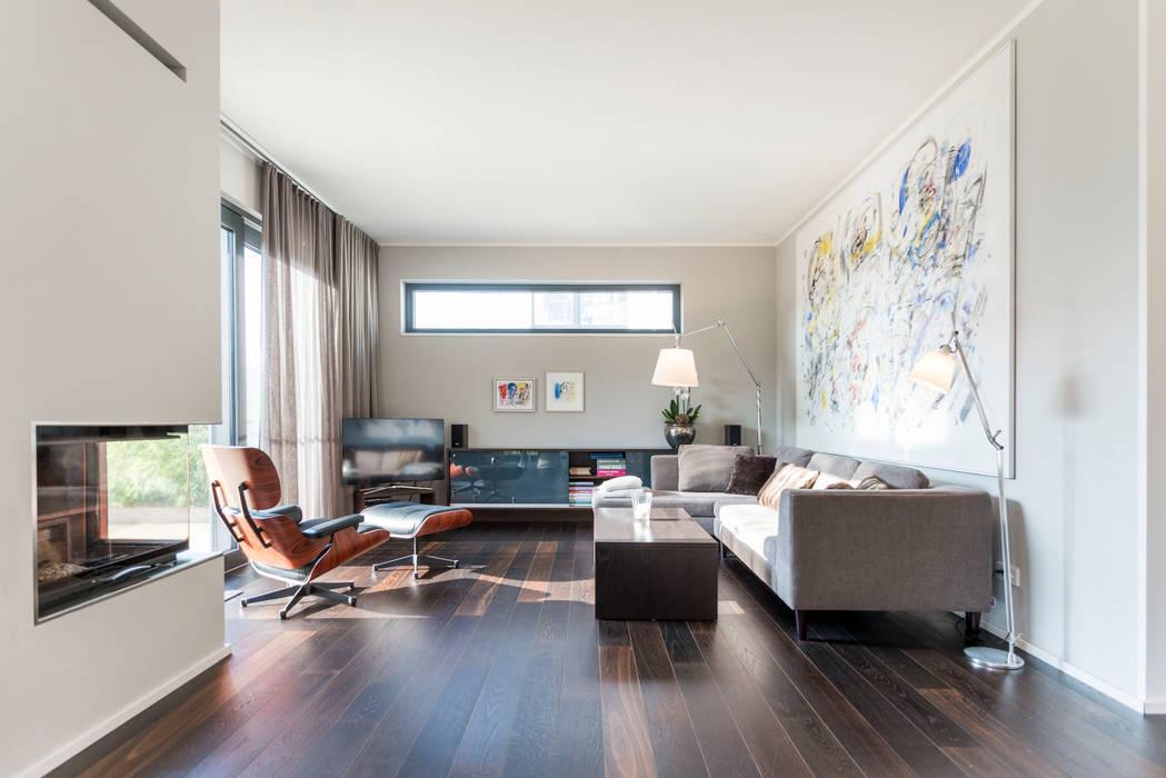 Wohnzimmer:  Häuser von herzog,kassel+partner