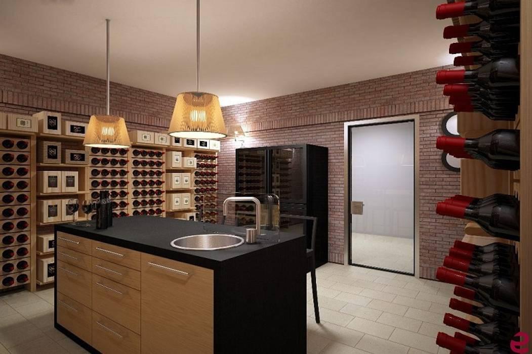 Portabottiglie dal design classico Esigo 2 Classic: Cantina in stile in stile Classico di Esigo SRL