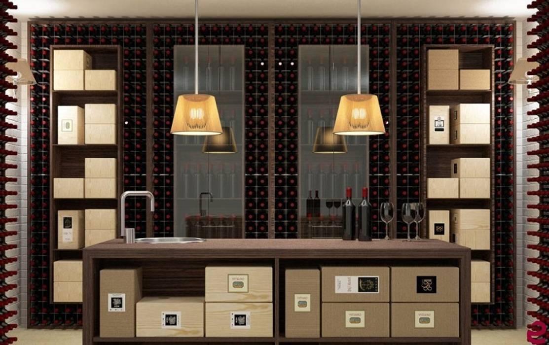 Arredamento Esigo per cantina - Versione Wall: Cantina in stile in stile Moderno di Esigo SRL