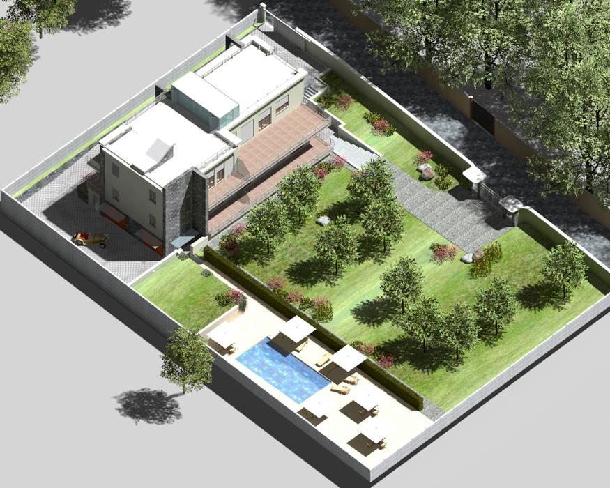 Isometría Casas de estilo minimalista de homify Minimalista
