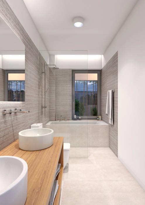 BAÑO PRINCIPAL: Baños de estilo moderno de NUÑO ARQUITECTOS