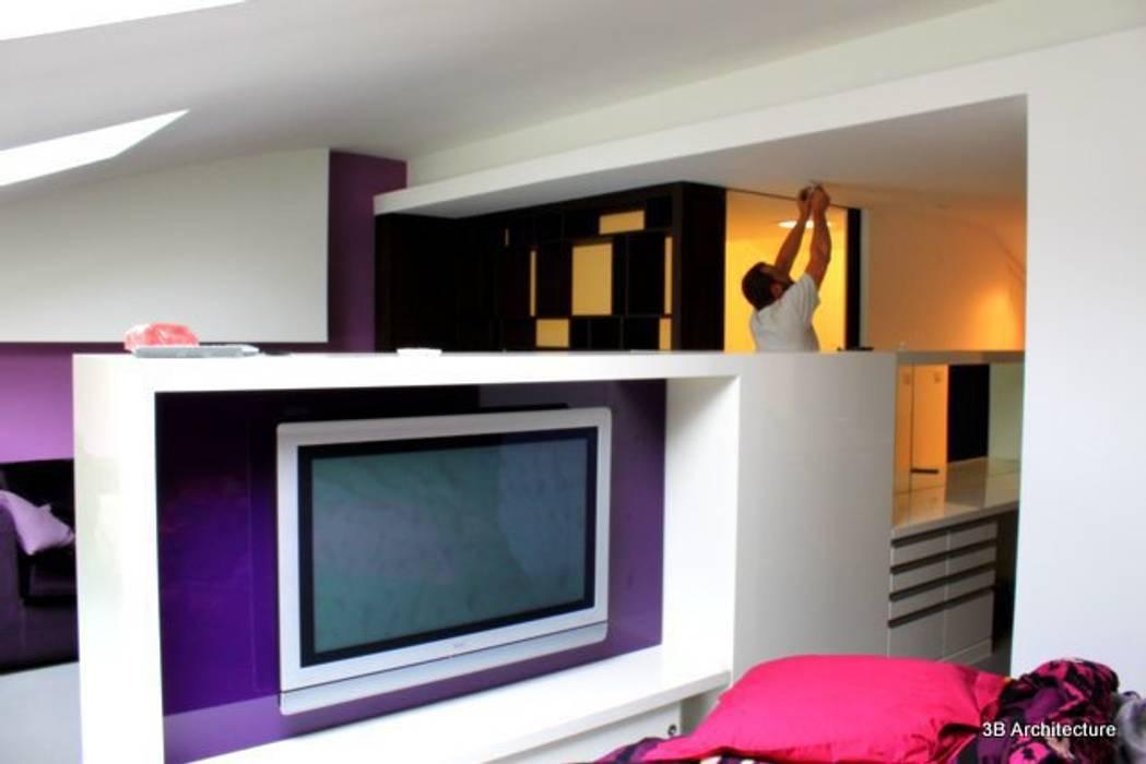 Espace nuit Chambre moderne par 3B Architecture Moderne