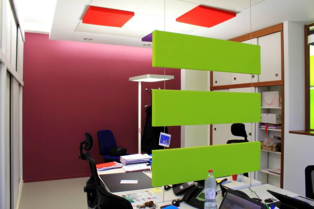 Espace de travail partagé Espaces de bureaux modernes par 3B Architecture Moderne