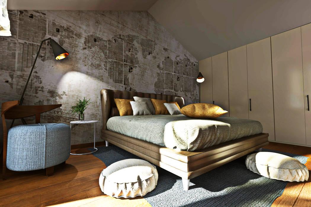 Modellazione di interni soggiorno camera da letto camera da ...