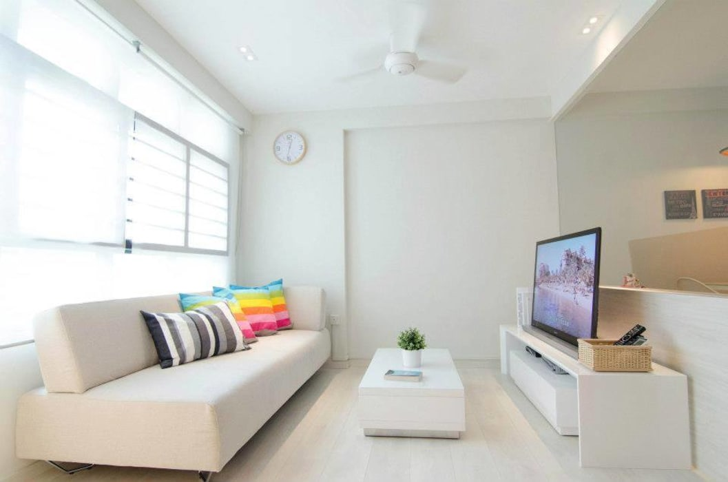 Living Room | Punggol Field Salas de estilo minimalista de Honeywerkz Minimalista