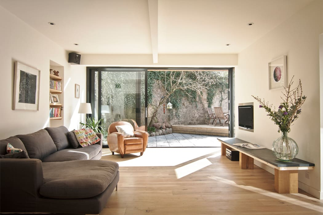 Headlands Cottage - Interior 现代客厅設計點子、靈感 & 圖片 根據 Barc Architects 現代風