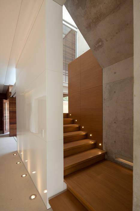 Pasillos, vestíbulos y escaleras modernos de Hernandez Silva Arquitectos Moderno