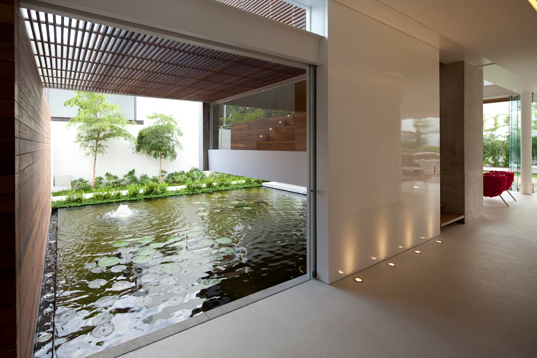 Сады в . Автор – Hernandez Silva Arquitectos, Модерн