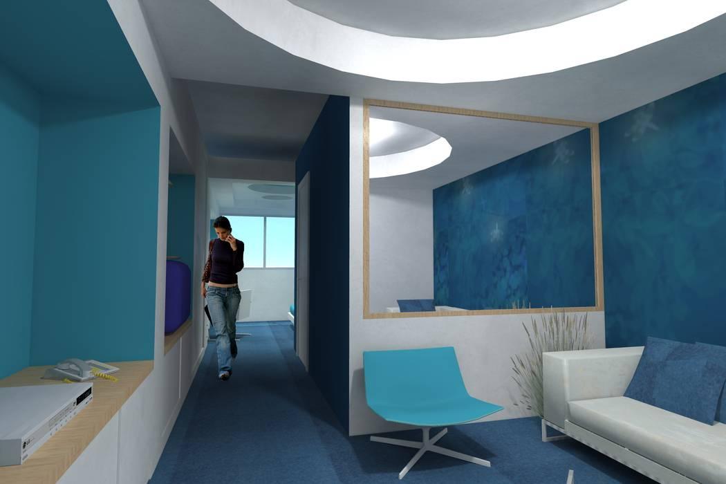 """Concorso """"Young Designers 2011"""" """"How tomorrow hotel's room will be"""" Hotel moderni di Studio Architetto Daniele Agostinelli Moderno"""
