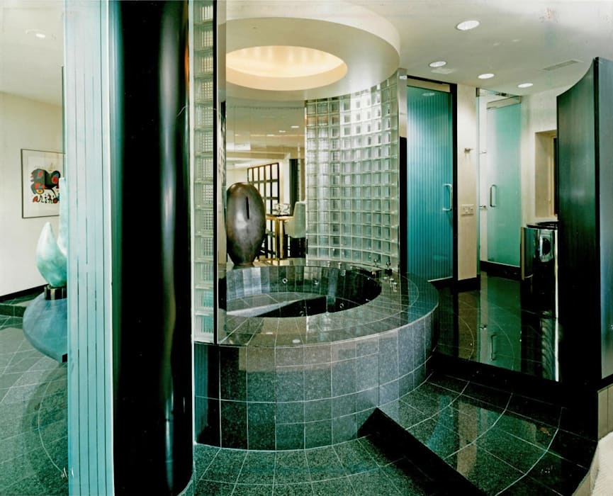 Loft interior bathroom: modern Bathroom by Schema Studio Limited