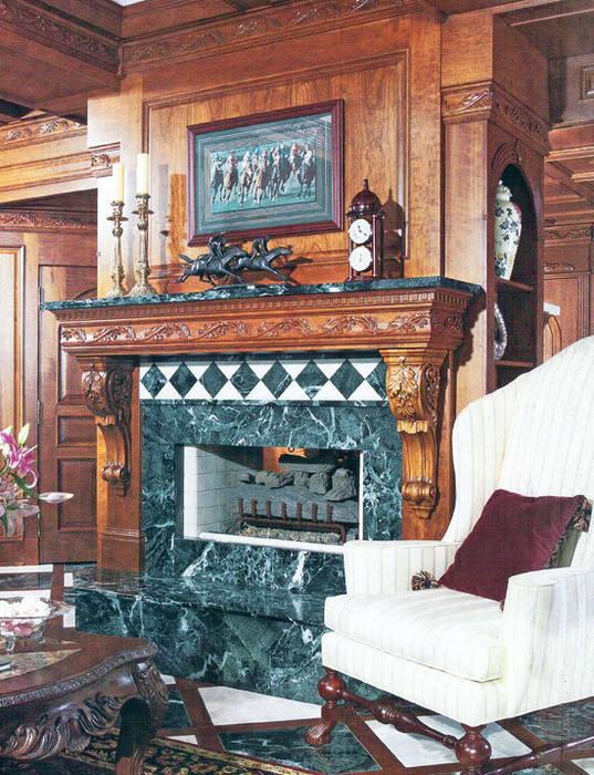 Traditional lounge:  Corridor & hallway by Schema Studio Limited