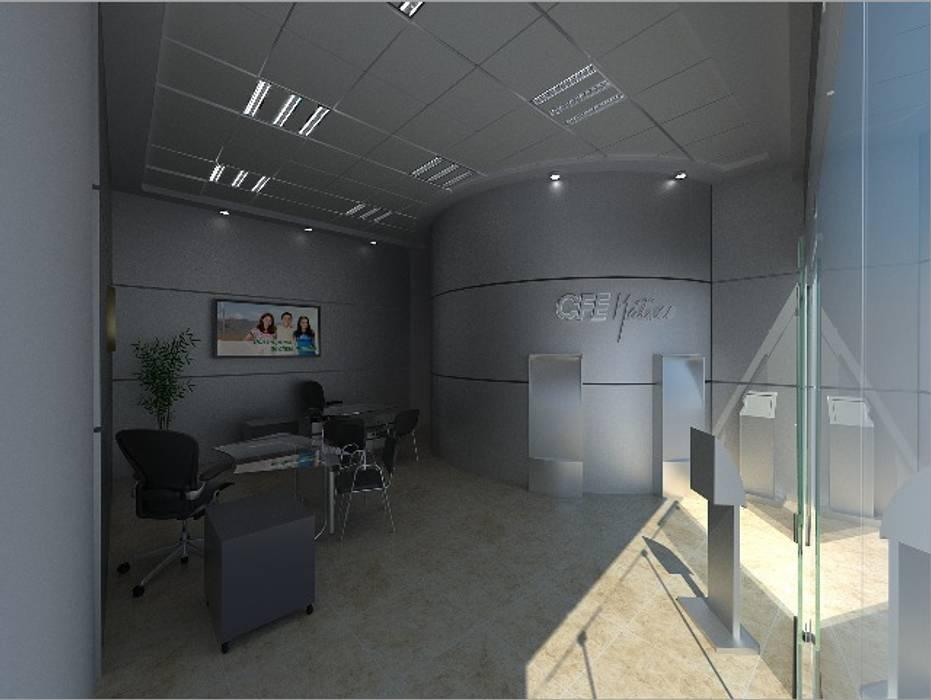 Centros de Atencion al Cliente CFE DVMN Espacios comerciales de estilo moderno de IDEA Studio Arquitectura Moderno