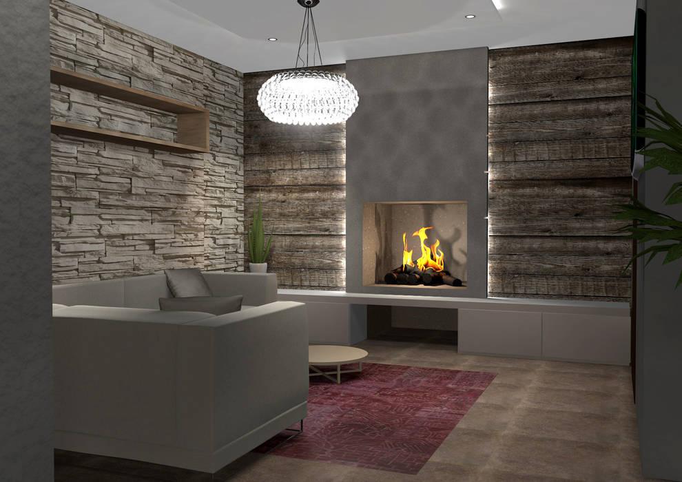 Abitazione privata soggiorno in stile di masi interior for Abitazione design