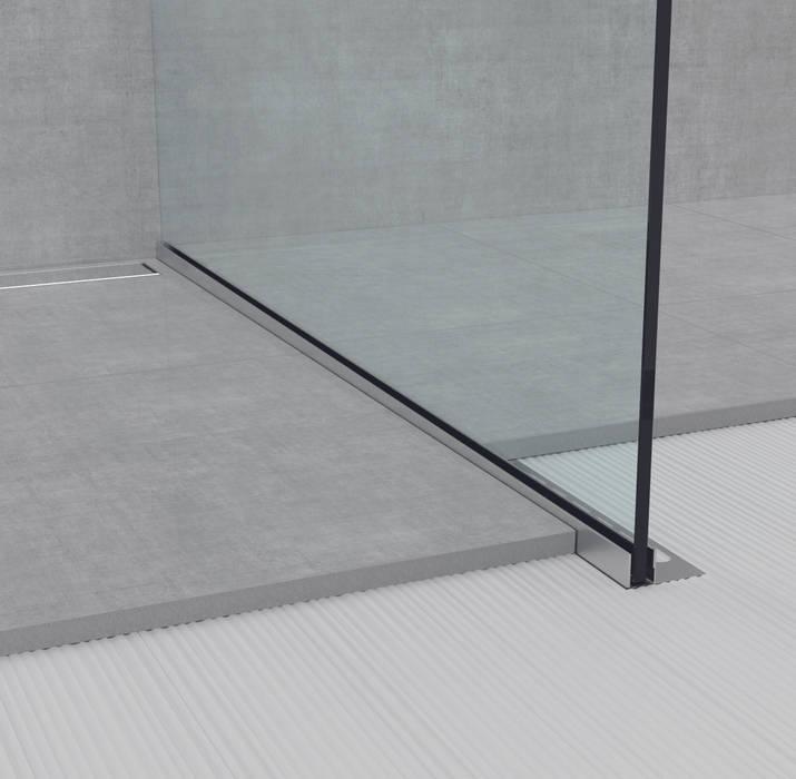 GU TGU Glass Profile: Bagno in stile  di Profilpas