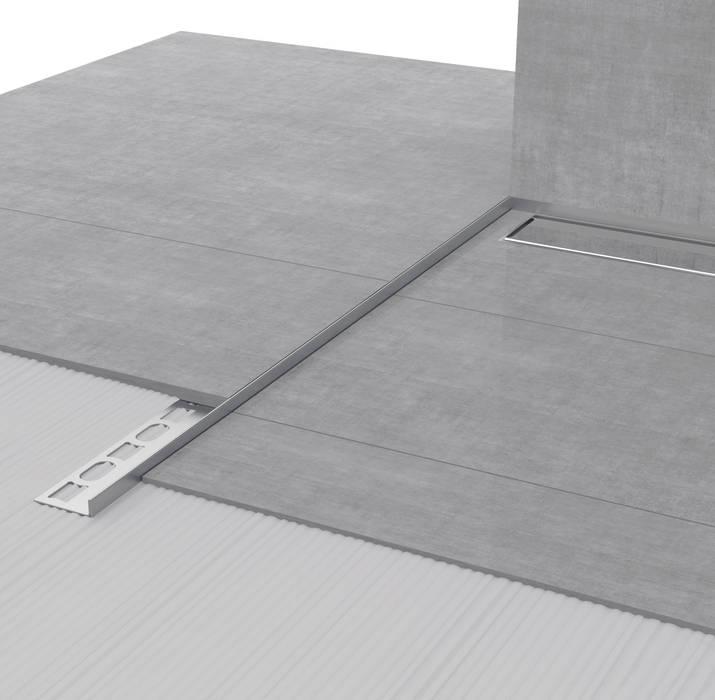 Glass Profile GPS3: Bagno in stile in stile Moderno di Profilpas