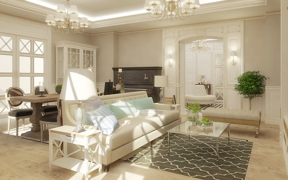 studio forma Classic style living room