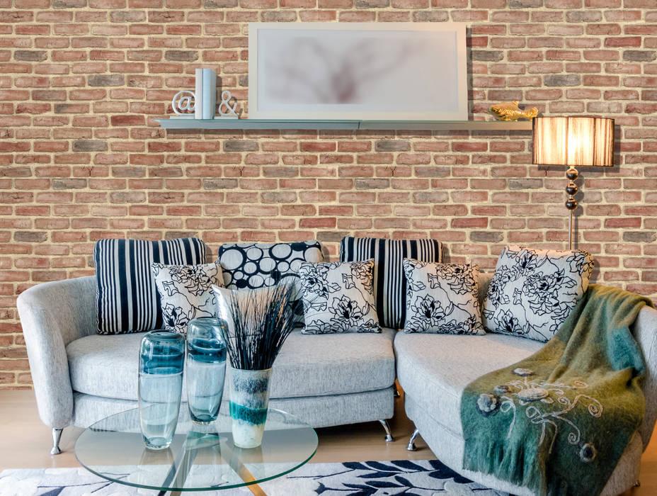 Rustic Brick homify Paredes y pisos de estilo rural Aglomerado Marrón