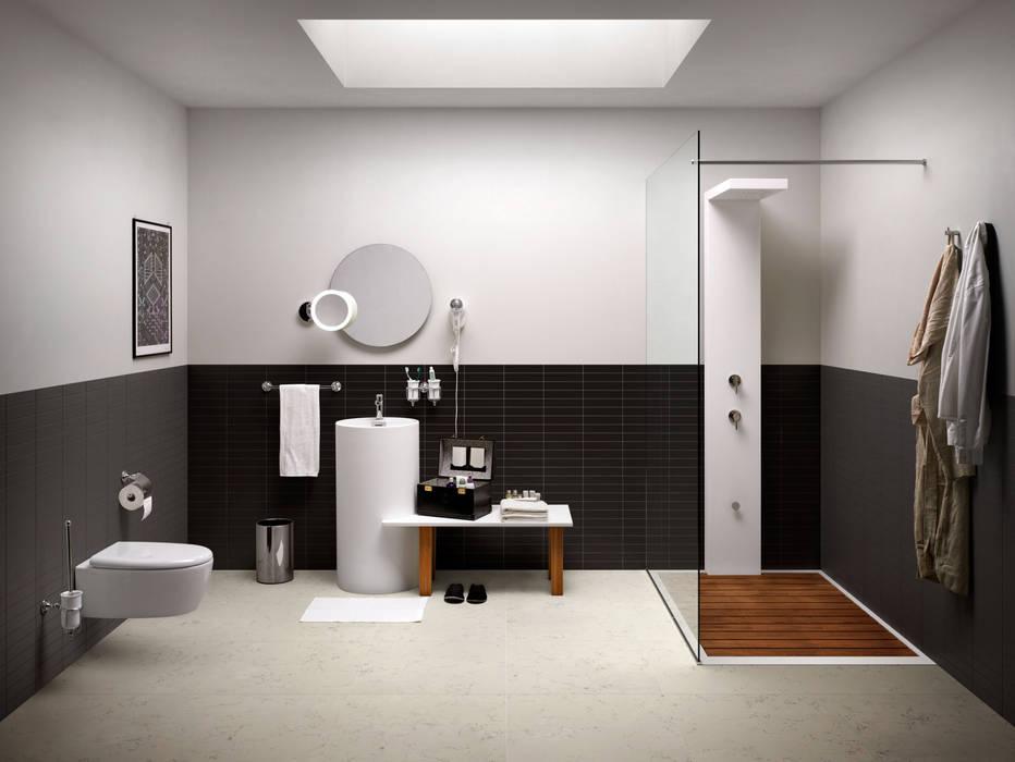 7 BATHROOMS FOR 7 STORIES Baños de estilo ecléctico de Lineabeta Ecléctico