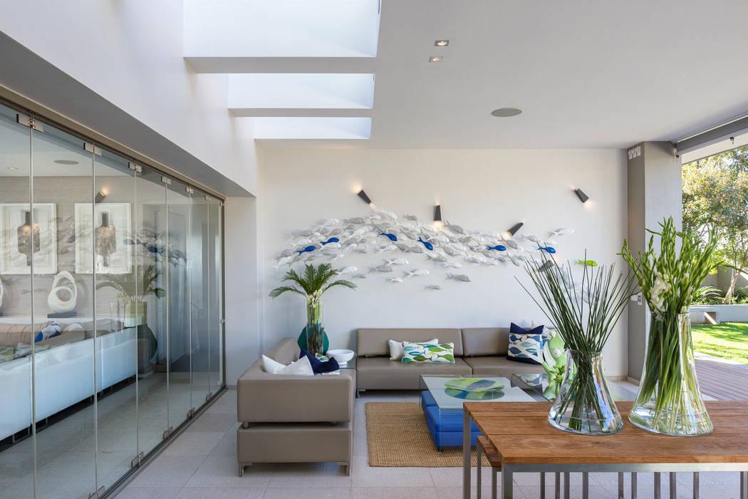 House Shoeman interior C7 architects Soggiorno moderno